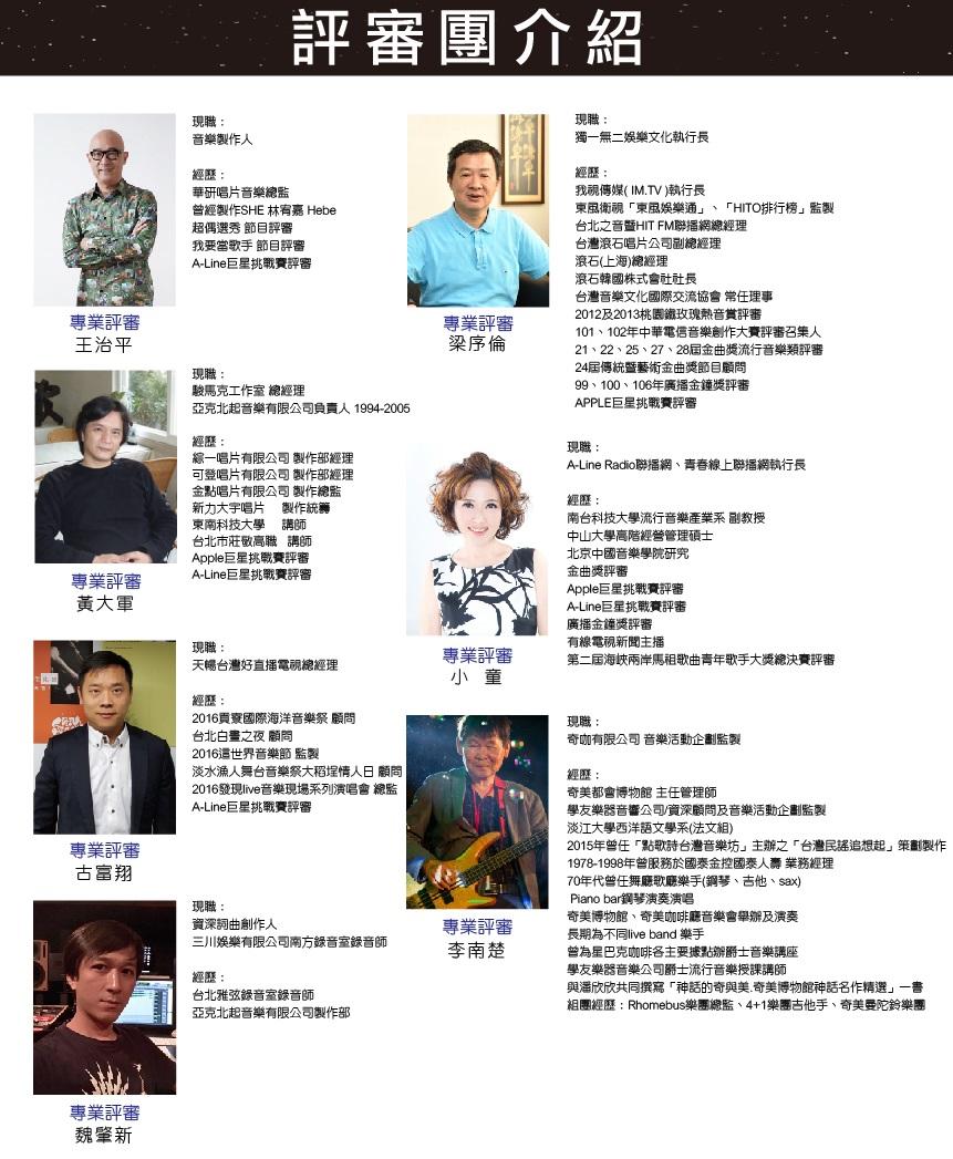 A-Line巨星挑戰賽2 - 評審團介紹