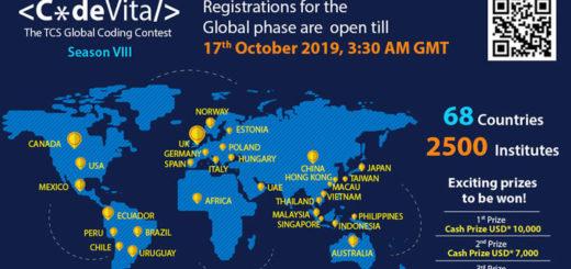 2019第八屆國際程式競賽 CodeVita Season 8