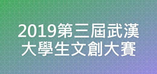 2019第三屆武漢大學生文創大賽