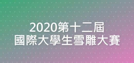 2020第十二屆國際大學生雪雕大賽