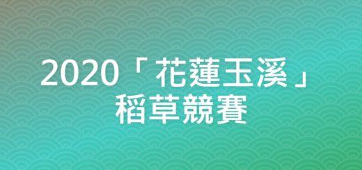 2020「花蓮玉溪」稻草競賽