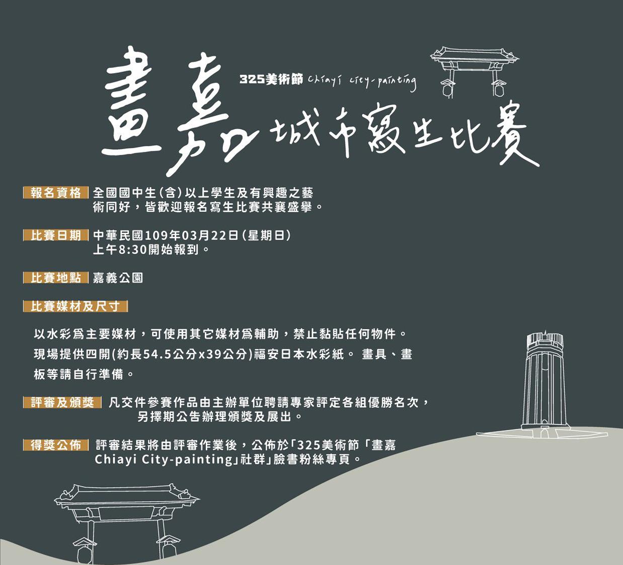 2020「畫嘉-Chiayi-City-painting」城市寫生比賽