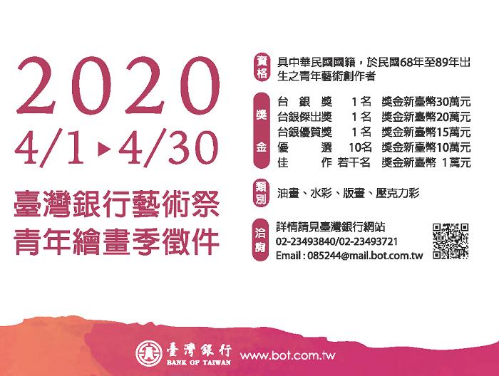 2020臺灣銀行藝術祭。青年繪畫季