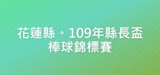 花蓮縣。109年縣長盃棒球錦標賽