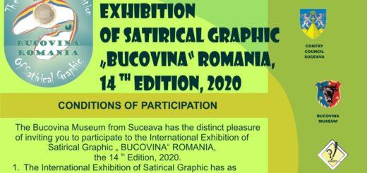 2020 14th 「Bucovina Romania」 International Exhibition of Satirical Graphic