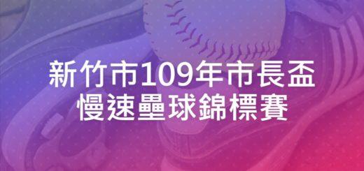 新竹市109年市長盃慢速壘球錦標賽