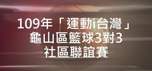 109年「運動i台灣」龜山區籃球3對3社區聯誼賽