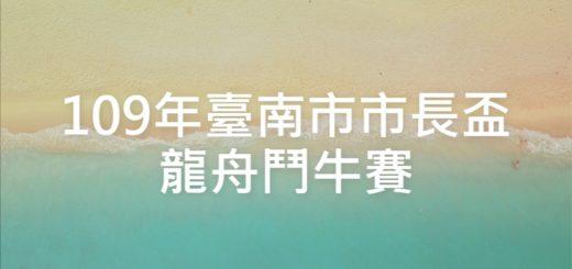 109年臺南市市長盃龍舟鬥牛賽