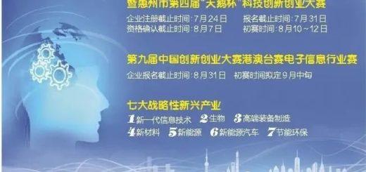2020第九屆中國創新創業大賽( 廣東。惠州賽區 )暨惠州市第四屆「天鵝杯」創新創業大賽