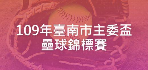 109年臺南市主委盃壘球錦標賽