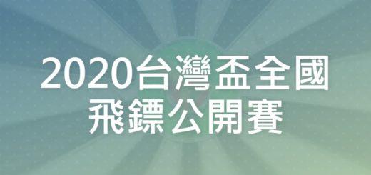 2020台灣盃全國飛鏢公開賽