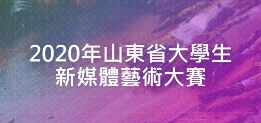 2020年山東省大學生新媒體藝術大賽