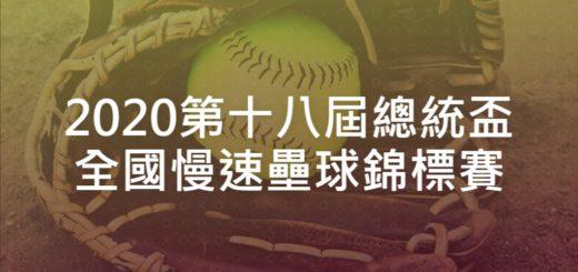 2020第十八屆總統盃全國慢速壘球錦標賽