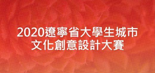 2020遼寧省大學生城市文化創意設計大賽