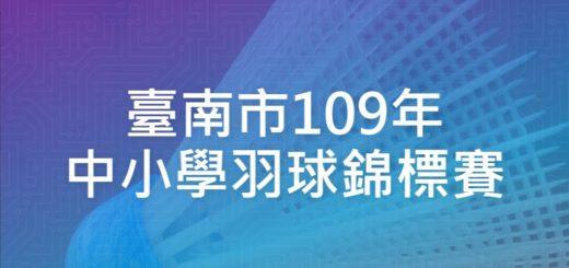 臺南市109年中小學羽球錦標賽