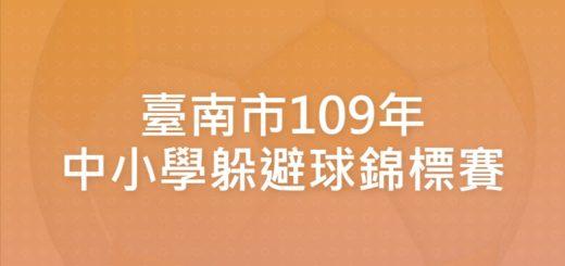 臺南市109年中小學躲避球錦標賽