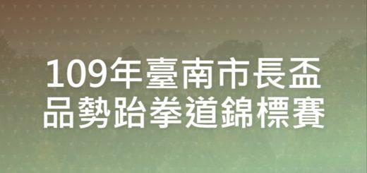 109年臺南市長盃品勢跆拳道錦標賽