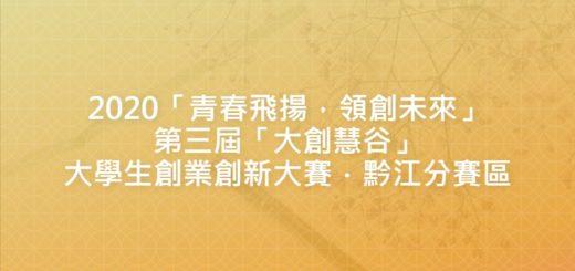2020「青春飛揚,領創未來」第三屆「大創慧谷」大學生創業創新大賽.黔江分賽區
