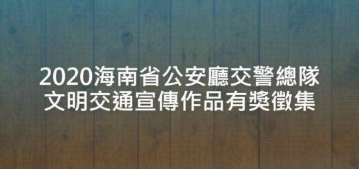 2020海南省公安廳交警總隊文明交通宣傳作品有獎徵集