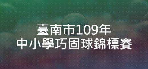 臺南市109年中小學巧固球錦標賽