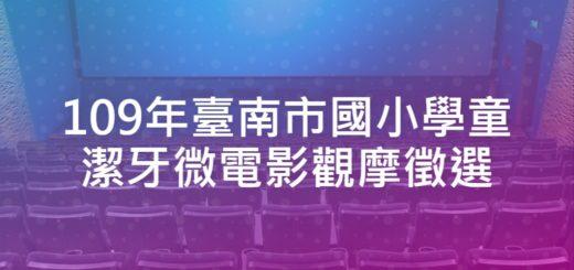 109年臺南市國小學童潔牙微電影觀摩徵選