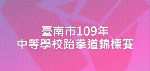臺南市109年中等學校跆拳道錦標賽