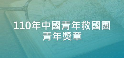 110年中國青年救國團青年獎章