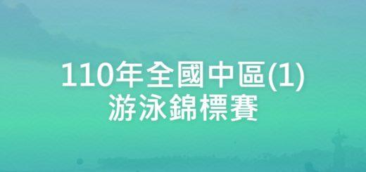 110年全國中區(1)游泳錦標賽
