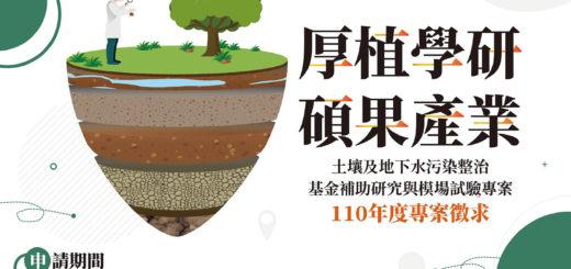 110年度土壤及地下水污染整治基金補助研究及模場試驗專案