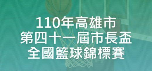 110年高雄市第四十一屆市長盃全國籃球錦標賽