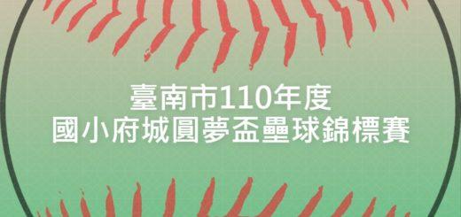 臺南市110年度國小府城圓夢盃壘球錦標賽