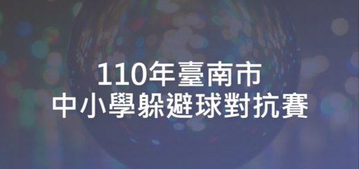 110年臺南市中小學躲避球對抗賽