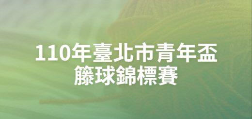 110年臺北市青年盃籐球錦標賽