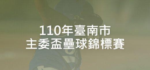 110年臺南市主委盃壘球錦標賽