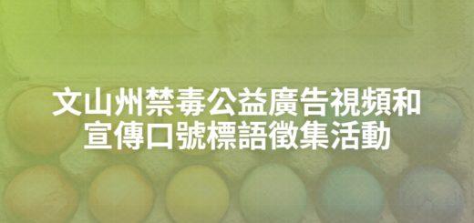 文山州禁毒公益廣告視頻和宣傳口號標語徵集活動