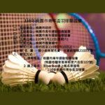110年桃園市青年盃羽球賽