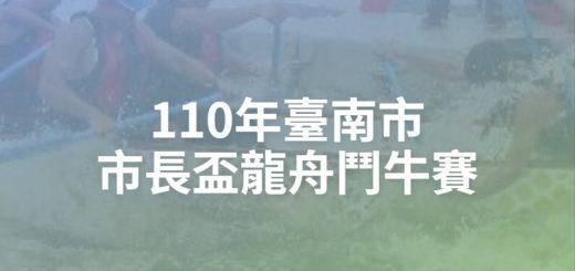 110年臺南市市長盃龍舟鬥牛賽
