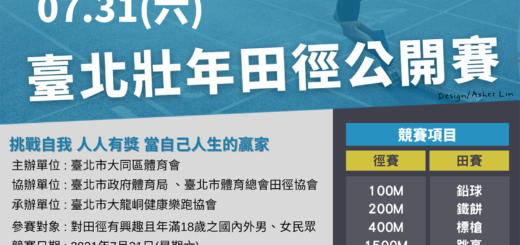 2021臺北壯年田徑公開賽