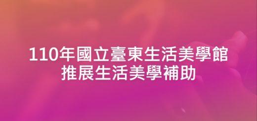 110年國立臺東生活美學館推展生活美學補助